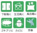 下駄箱の臭い、生活臭、防虫に 除菌 消臭 防虫