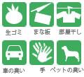 生ゴミ、まな板、部屋干し、車のニオイ、手、ペットのニオイ 除菌・消臭