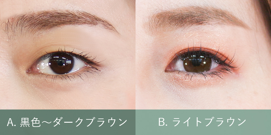 瞳の色はどちらに近い?