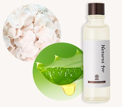 オーガニック95%化粧水でより高保湿ケアを