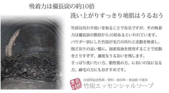 池田さんの石けんシャンプー 竹炭エッセンシャルソープ 概要