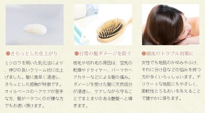 さらっとした仕上がり 日常の髪ダメージを防ぐ 頭皮のトラブル対策に
