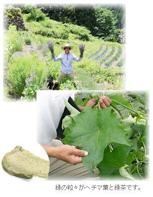 母袋有機農場で栽培されたオーガニック原料を使用しています。