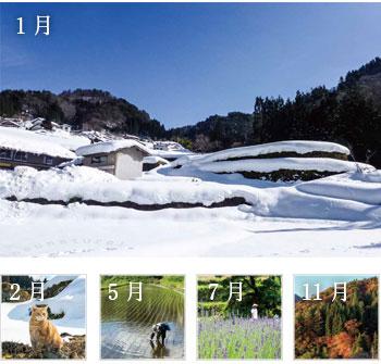スタッフが農作業をしながら撮影した写真とともに、母袋有機農場の四季をご紹介